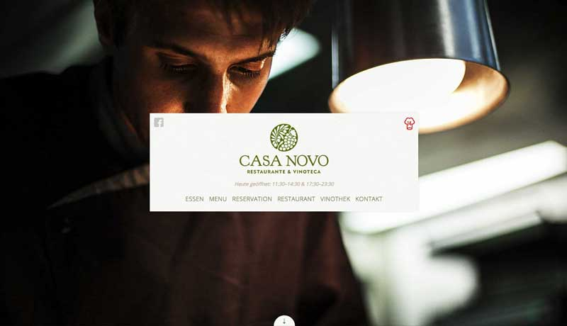 Casa novo Website Design