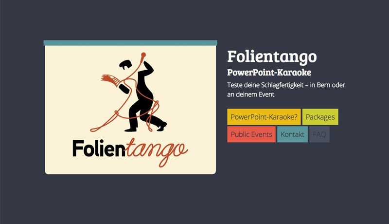 Folientango Website Design