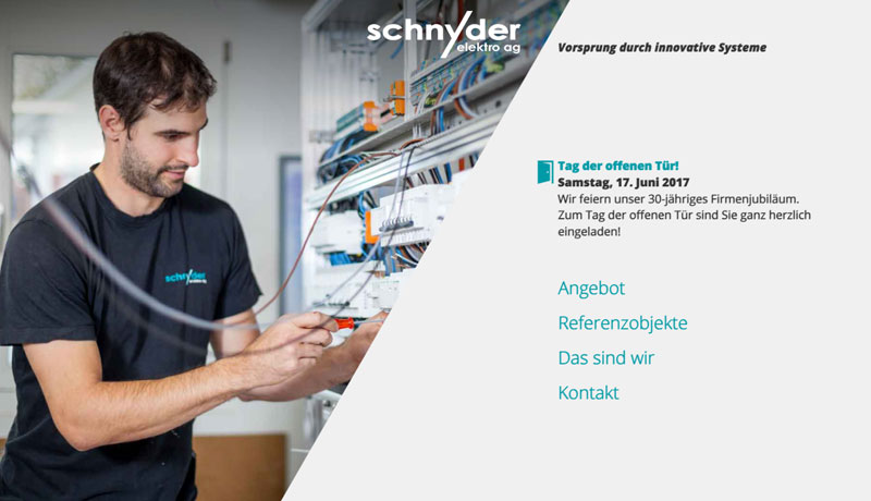 Schnyder Elektro AG Website