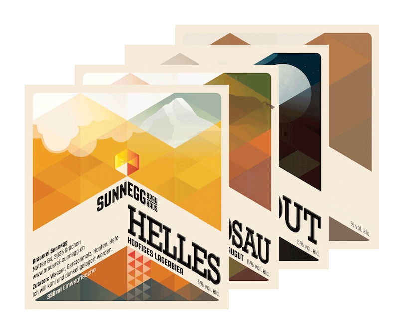 Sunnegg Bottle Label Design
