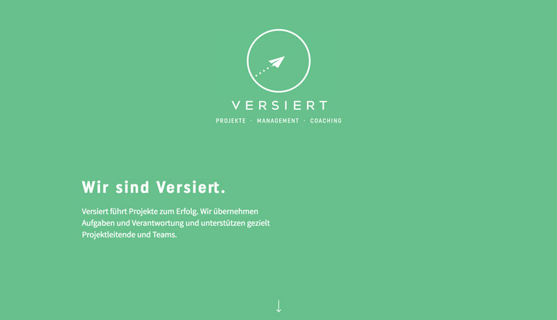 Versiert Projektmanagement AG Website Design & Development